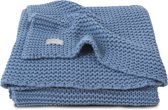 Jollein Basic knit Deken 75x100cm blue