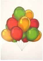 Adhesive tros Ballonnen rood/geel/g