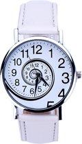 Fako Bijoux® - Horloge - Swirl - Wit