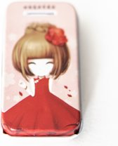 Mooi Blikje Rood met 15 Zwarte Haarspeldjes   Blikje met Schuifspeldjes