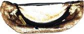 Buiktasje - Heuptasje - Pailletten - Groot - Afmeting: 30 x 11,5 x 8 cm. Goud