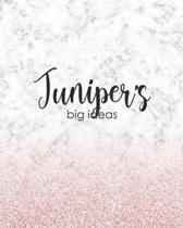 Juniper's Big Ideas: Personalized Notebook - 8x10 Lined Women's Journal
