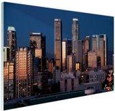 Los Angeles avond skyline Glas 120x80 cm - Foto print op Glas (Plexiglas wanddecoratie)