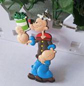 Popeye - Sleutelhanger - Keychain - Accessoires - 14 CM - Popeye the sailorman