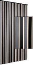 Vliegengordijn Linten High Quality - zilver zwart 90x220