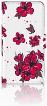 Samsung Galaxy A7 (2018) Boekhoesje Design Blossom Red