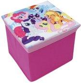 My little Pony - Opvouwbare opberg poef - 30 x 30 x 30 cm - Roze