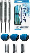 Harrows - ICE 24 gram Ringed grip - dartpijlen - plus 3 sets - dartshafts - en 3 sets - dartflights