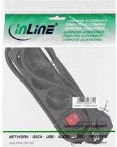 InLine 16435S power uitbreiding 5 m 3 AC-uitgang(en) Zwart