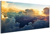 FotoCadeau.nl - Kijkje van bovenaf wolken Aluminium 90x60 cm - Foto print op Aluminium (metaal wanddecoratie)