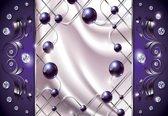 Fotobehang Purple Diamond Abstract Modern | PANORAMIC - 250cm x 104cm | 130g/m2 Vlies