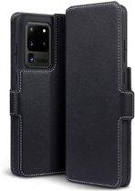 Samsung Galaxy S20 Ultra hoesje, MobyDefend slim-fit extra dunne bookcase, Zwart - Geschikt voor: Samsung Galaxy S20 Ultra