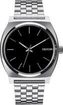 Nixon A045000 Time Teller black - Horloge - 37mm - Zilverkleurig