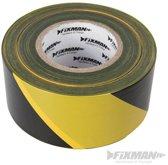 Afzetlint geel/zwart 70 mm x 500 m