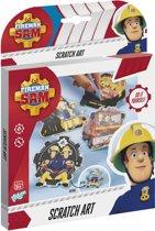 Brandweerman Sam Scratch art set
