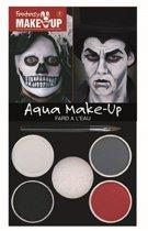 Halloween - Horror zombie/ vampier/ day of the dead schmink rood zwart grijs wit - Halloween schmink