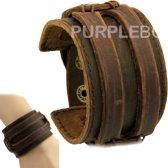 Dubbele brede manchet armband