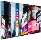 Neon lichten Times Square Glas 30x20 cm - Foto print op Glas (Plexiglas wanddecoratie)