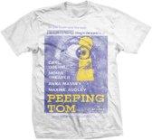 StudioCanal - Peeping Tom heren unisex T-shirt wit - L