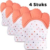 4 Bijthandschoenen Oranje Baby Tandjes Bijtring Bijthandschoen - Gouda Select