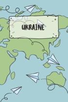 Ukraine: Liniertes Reisetagebuch Notizbuch oder Reise Notizheft liniert - Reisen Journal f�r M�nner und Frauen mit Linien
