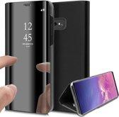 Spiegel Hoesje voor Samsung Galaxy S10 Lederen Wallet Book Case van iCall - Zwart