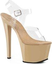 EU 38 = US 8   SKY-308   7 Heel, 2 3/4 PF Ankle Strap Sandal