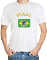 Brazil t-shirt met vlag L