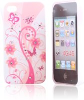 iPhone 4 en 4S Hard Case Hoesje - Pink Love