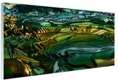 FotoCadeau.nl - Rijstterras bij Yuanyang China Glas 180x120 cm - Foto print op Glas (Plexiglas wanddecoratie)