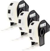 3x Brother DK-22210 zwart op wit doorlopende labelrol - Papier – 29 mm x 30,48 m