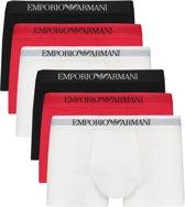 Emporio Armani 6-pack boxershorts trunk - wit/rood/zwart