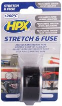 stretch & fuse tape 25mm 3m zwart