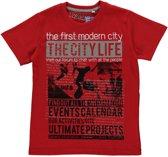 Losan Jongen Shirt Rood met print - Maat 164