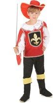 Rode musketier kostuum voor jongens - Verkleedkleding