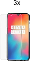 OnePlus 6T Screenprotector Glas - Tempered Glass Screen Protector - 3x - LuxeRoyal