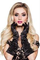 Lange zwarte handschoenen voor vrouwen - Verkleedattribuut