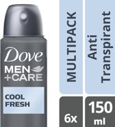 Dove Men+Care Cool Fresh - 6 x 150 ml - Deodorant Spray - Voordeelverpakking