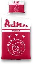 Ajax Dekbedovertrek - Dekbedovertrek - 140x200 cm - wit/rood