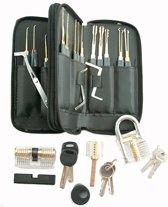 Volledige Lockpick Set Voor Beginners En Gevorderden met Luxe Lederen Hoes - Lock pick set - Lockpicker  - Zwart 2020
