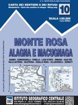 IGC Italien 1 : 50 000 Wanderkarte 10 Monte Rosa