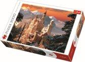 Kasteel Neuschwanstein in de winter,  3000 stukjes Puzzel