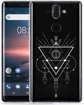 Nokia 8 Sirocco Hoesje Abstract Moon White