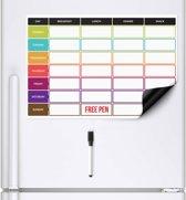 CKB Ltd® Maaltijdplanner Magnetisch - Voedingsplanner - voor koelkast - Food planner - 42x29cm - Fitness voeding schema - Dieet plan