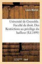 Universit� de Grenoble. Facult� de Droit.