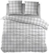 Snoozing Mila - Dekbedovertrek - Lits-jumeaux - 270x200/220 cm + 2 kussenslopen 60x70 cm - Grey