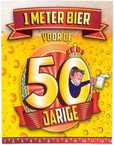 Paperdreams - 1 Meter bier kaart - 50 Jaar