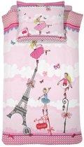 Cinderella Ballerina - Dekbedovertrek - Junior - 120x150 cm + 1 kussensloop 60x70 cm - Pink