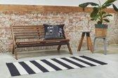 Kelim Vloerkleed - Oosters Kilim Design - Groot Laagpolig Vloer Tapijt - Zwart/Wit 160x230