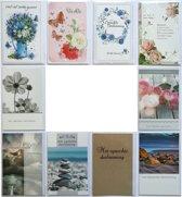Rouwkaarten - Condoleance kaarten - Set van 10--L-036